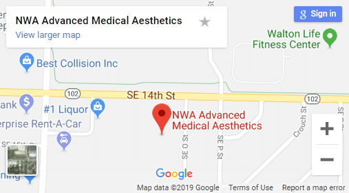 Map of Bentonville Medical Spas